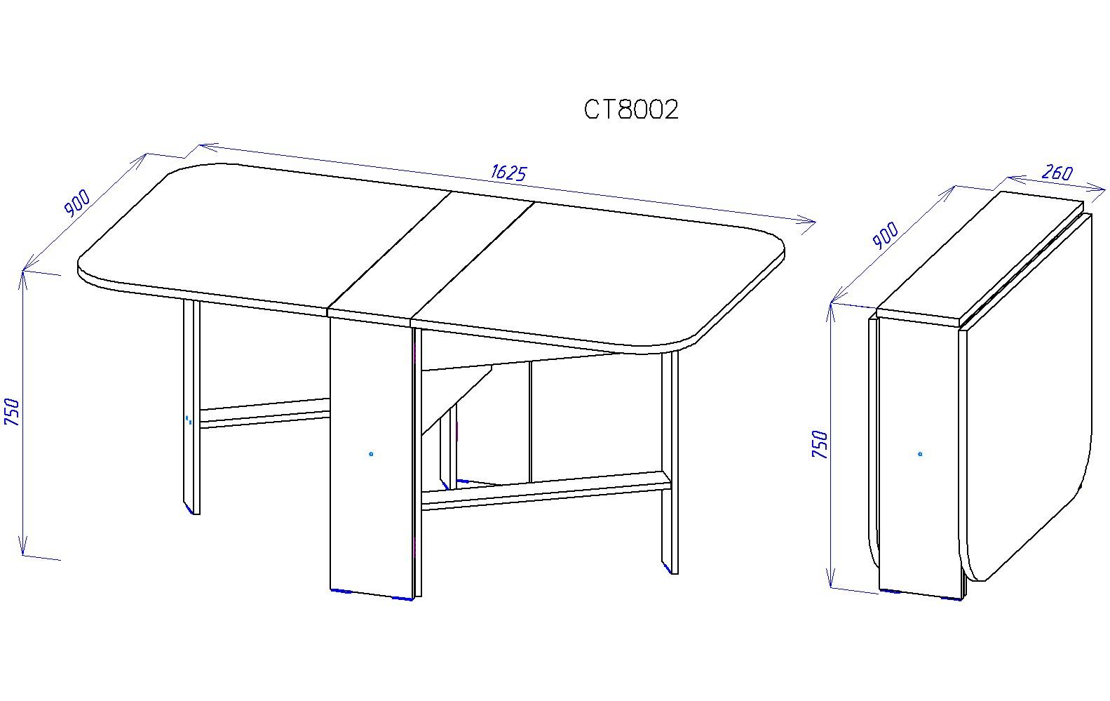 Стол книжка фигурная схема сборки